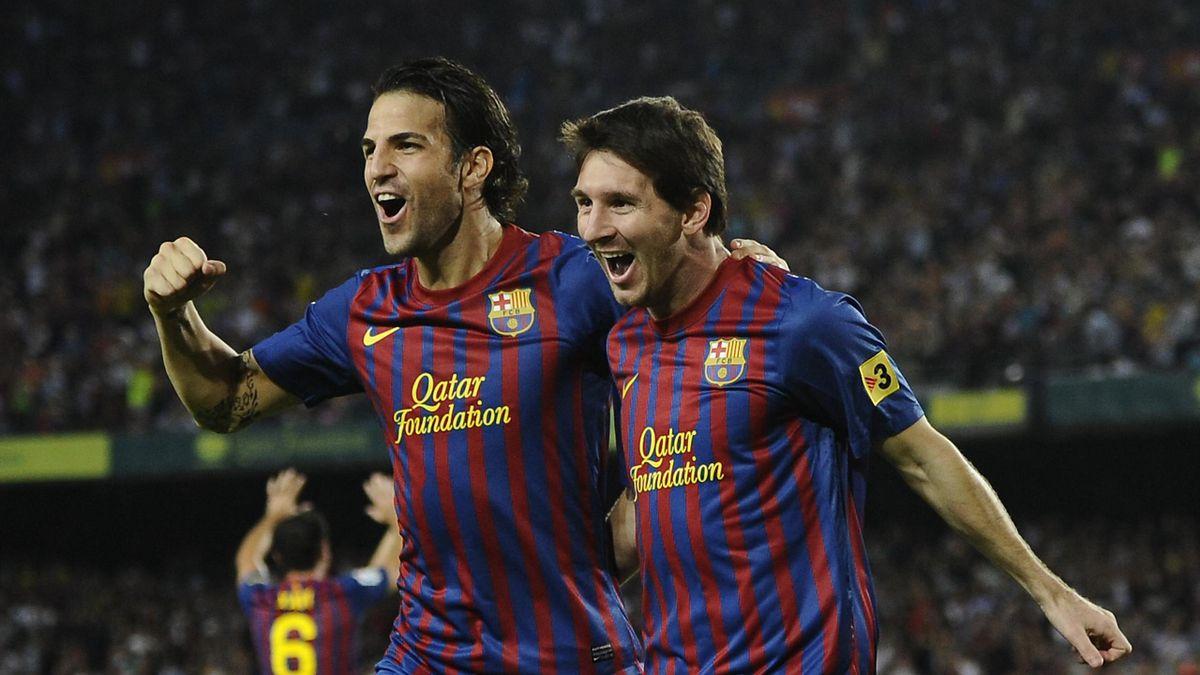 Cesc Fabregas et Lionel Messi en 2011