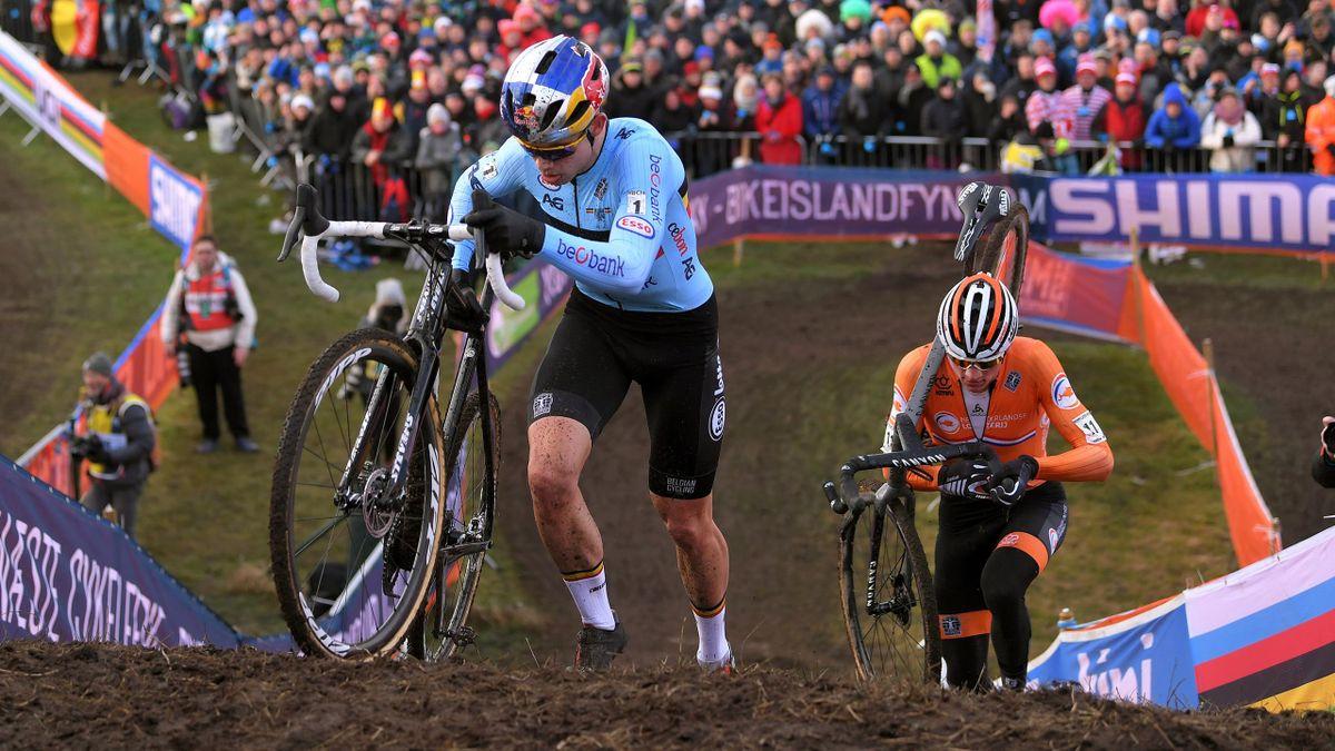 Wout Van Aert et Mathieu Van Der Poel lors des Mondiaux de cyclo-cross 2019