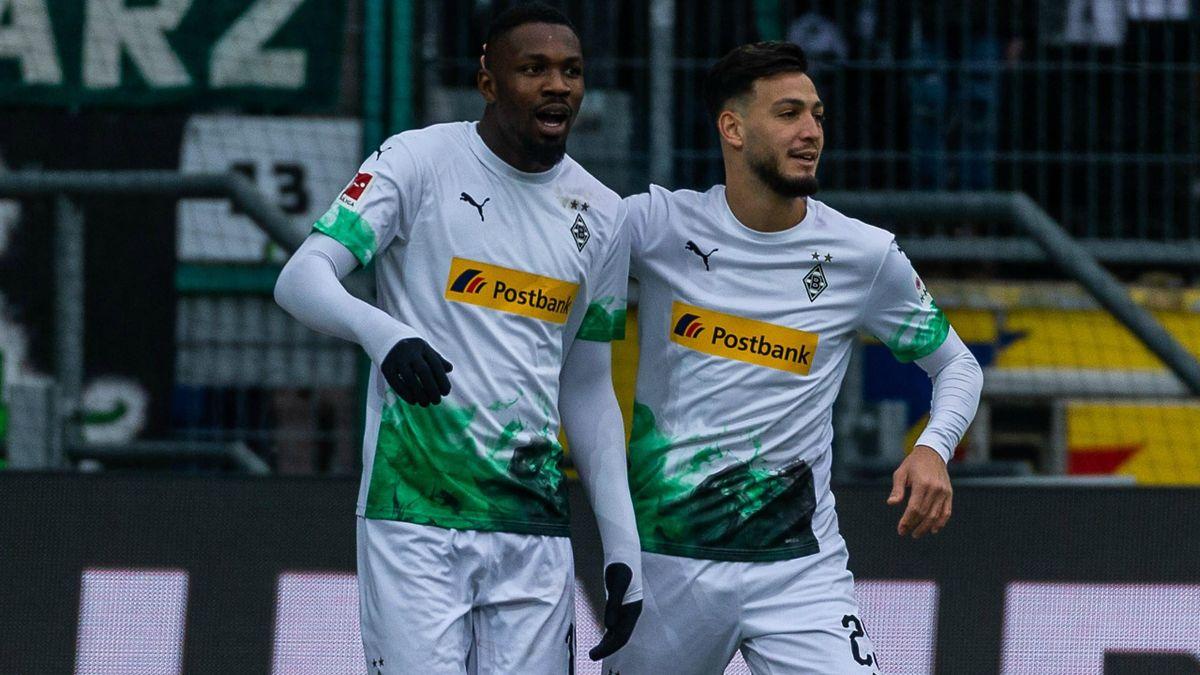 Marcus Thuram et Ramy Bensebaini (Borussia Mönchengladbach)