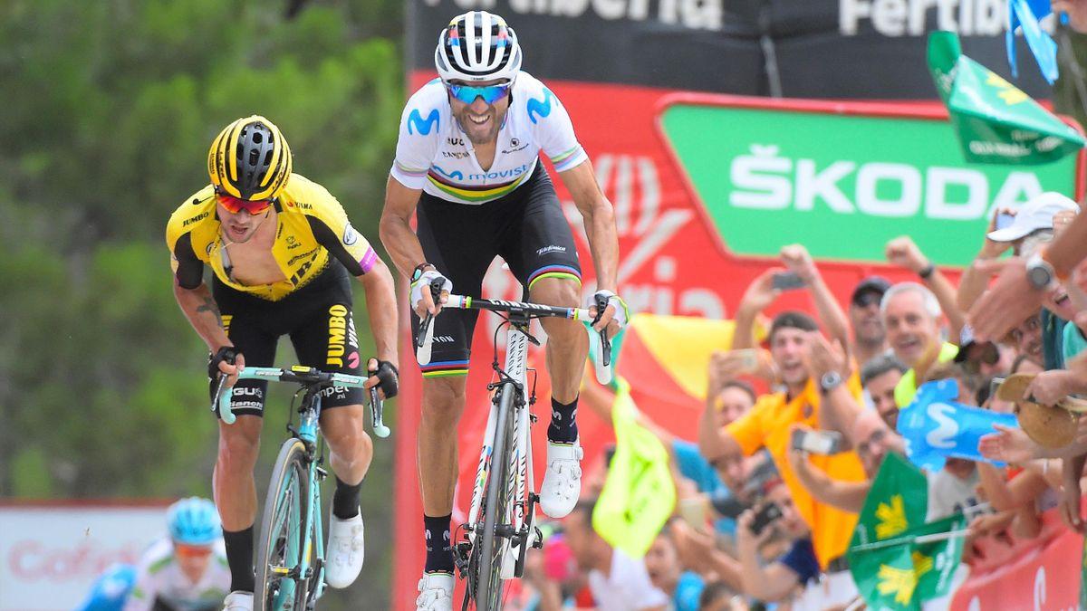 Roglic, Valverde - stage 7 Vuelta 2019 - Getty Images