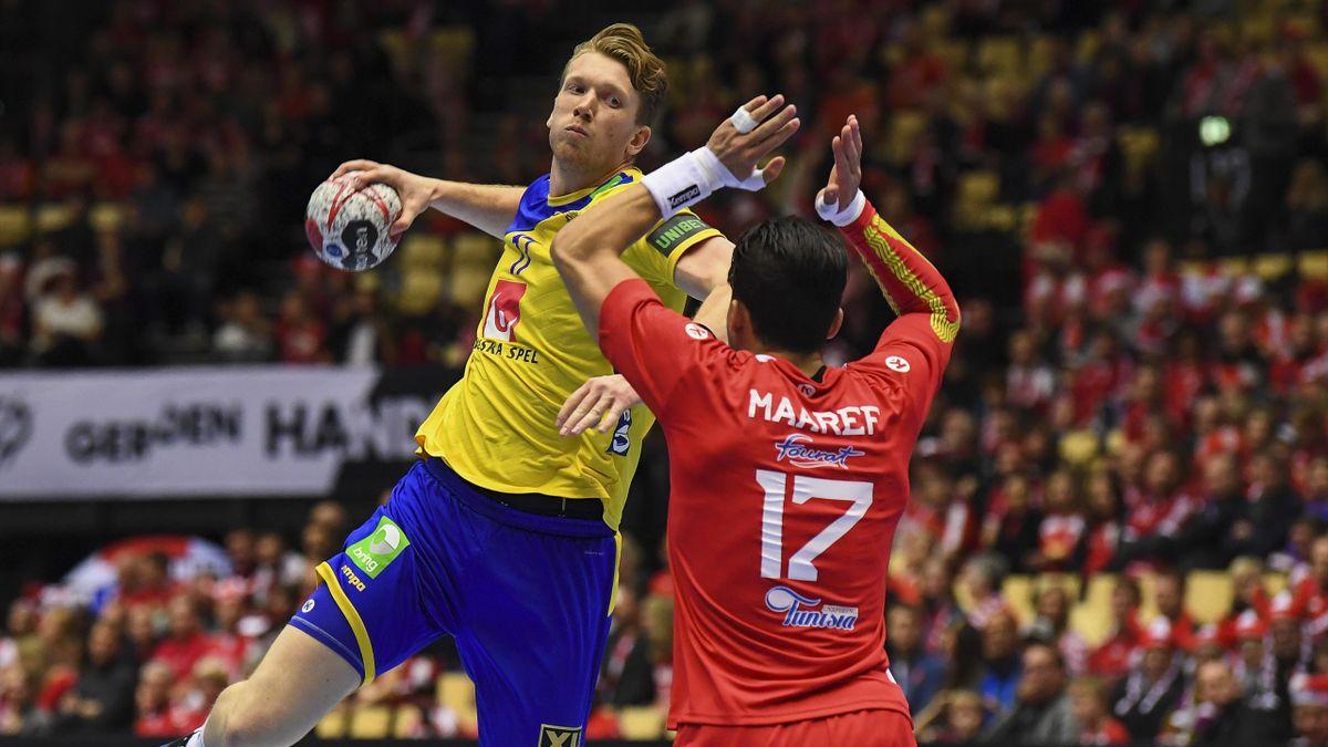 Simon Jeppsson (Suède) contre la Tunisie - Mondiaux 2019
