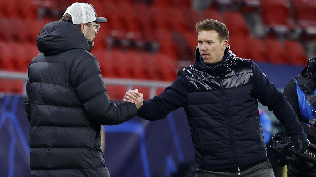 Jürgen Klopp (l.) und Julian Nagelsmann