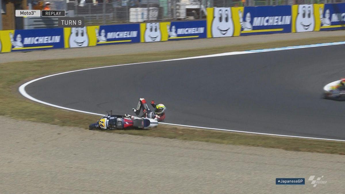 GP Japan - Moto 3 FP3 - Crash Arbolino