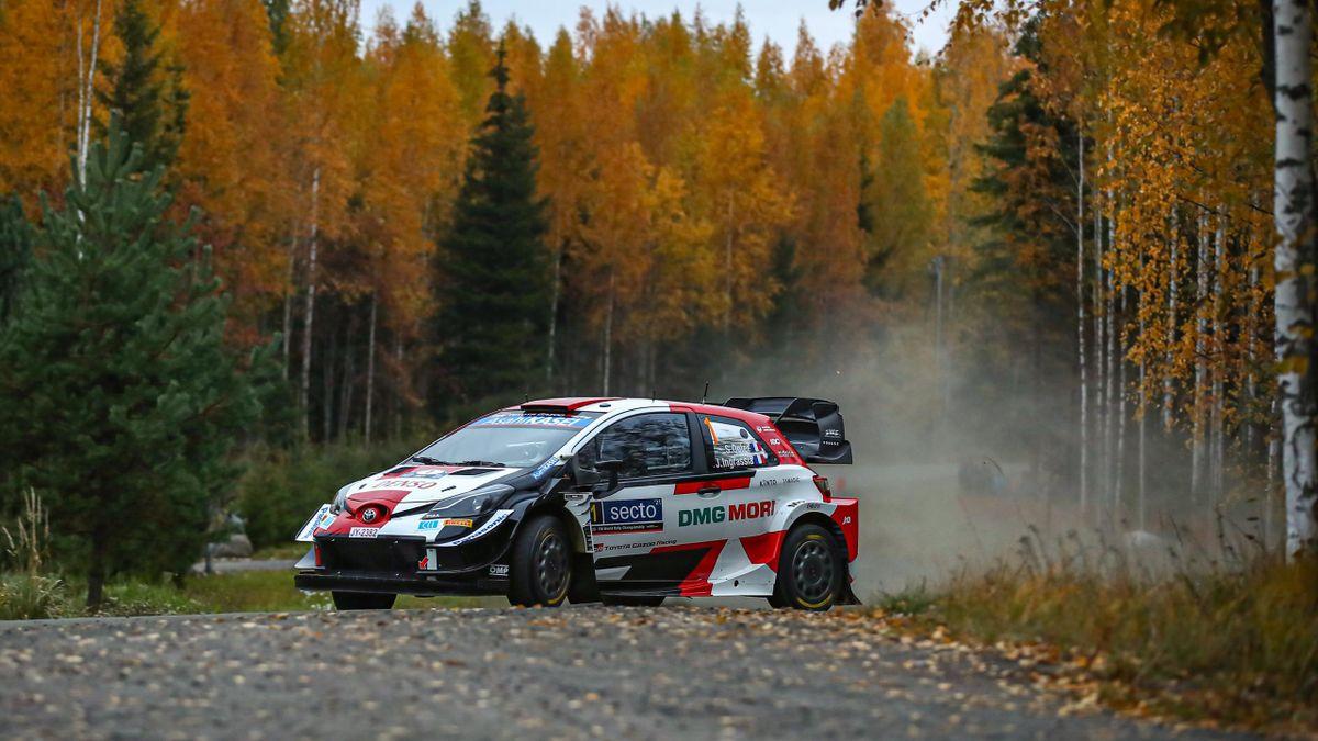 Sébastien Ogier (Toyota) au Rallye de Finlande, le 1er octobre 2021
