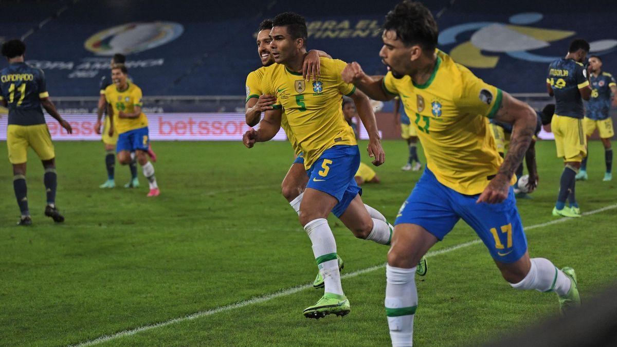 Casemiro Brazil Colombia Copa America