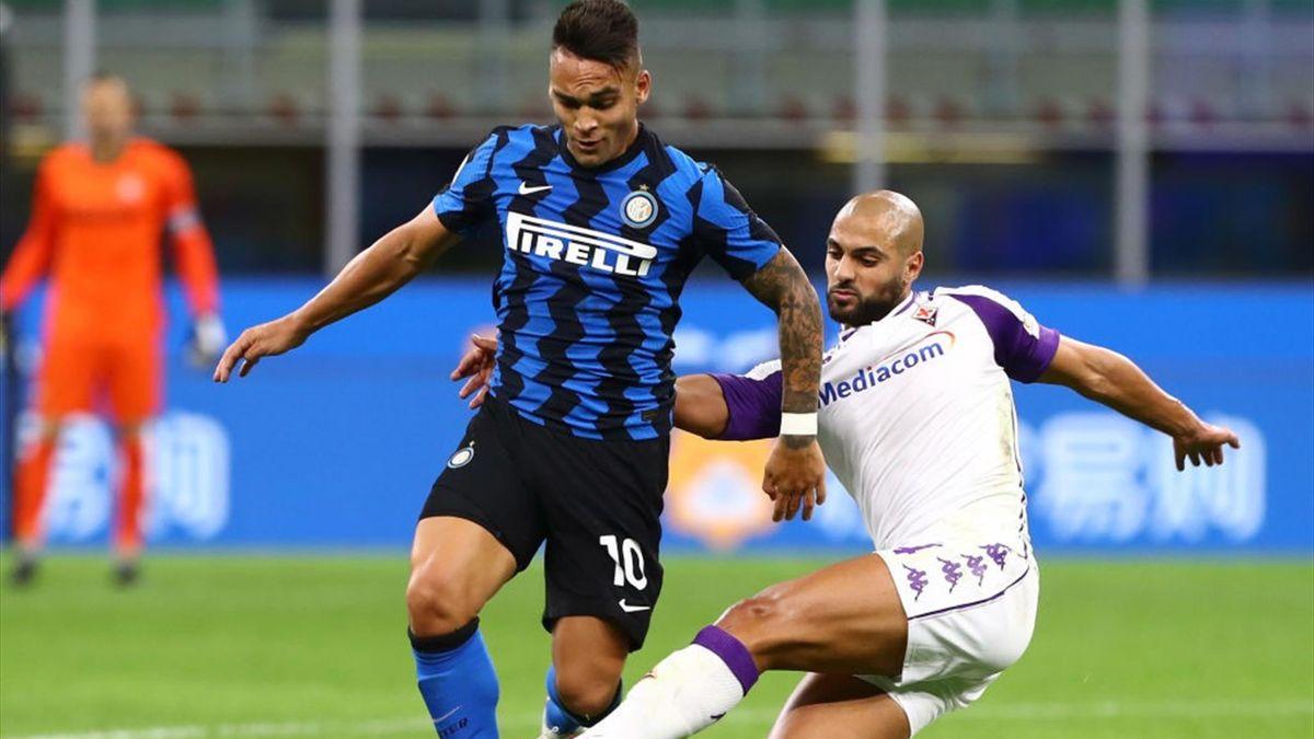 Amrabat, Lautaro Martinez - Inter-Fiorentina - Serie A 2020/2021 - Getty Images