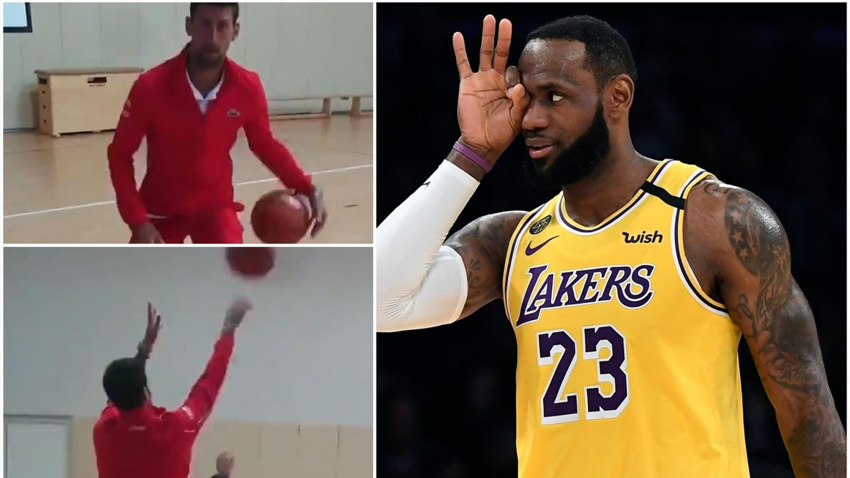 LeBron James admired Novak Djokovic's basketball skills