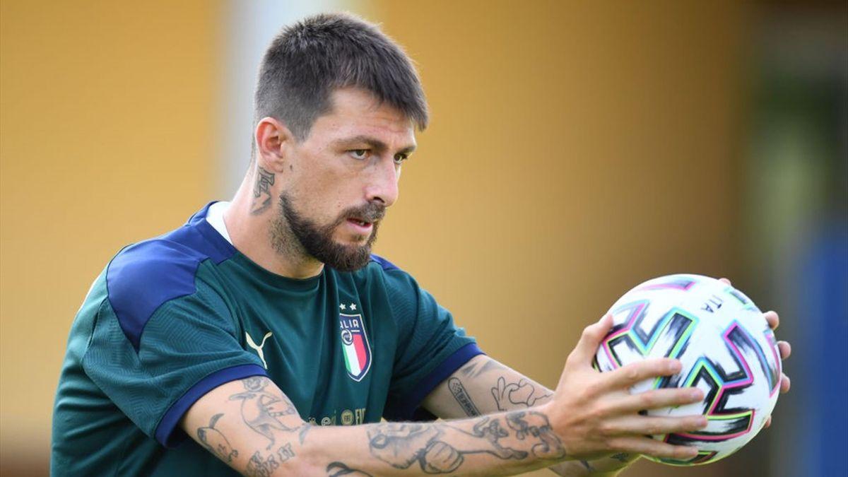 Francesco Acerbi nel ritiro della Nazionale azzurra a Coverciano - Euro 2020