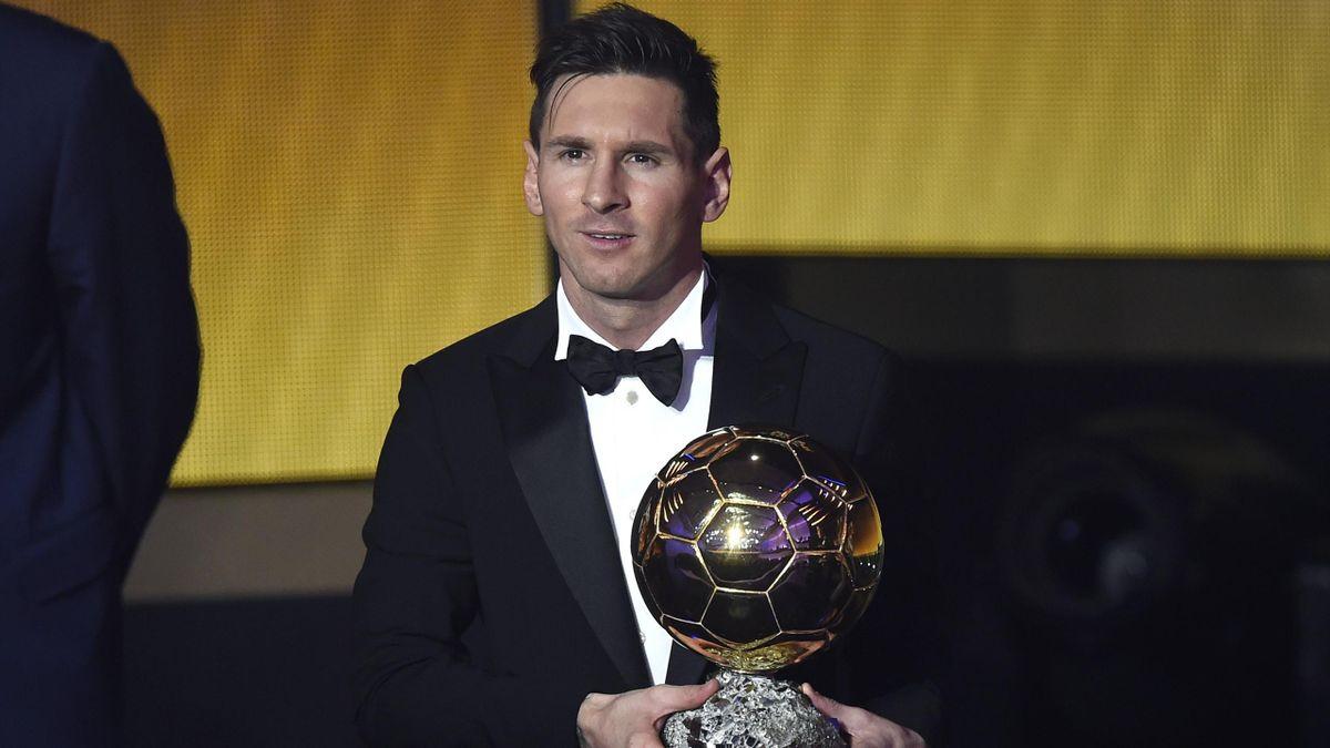 Lionel Messi, vainqueur du Ballon d'Or 2015