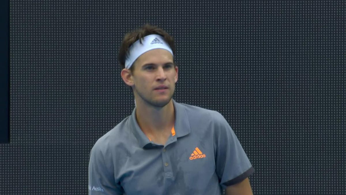 Nice point Dominic Thiem against Anday Murray
