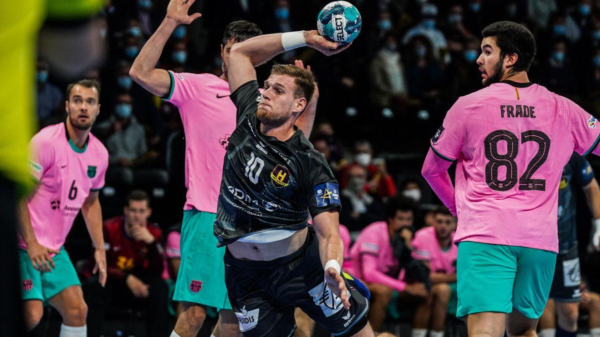 Dragan Pechmalbec lors de la défaite du HBC Nantes (27-35) face à Barcelone - 1er octobre 2020
