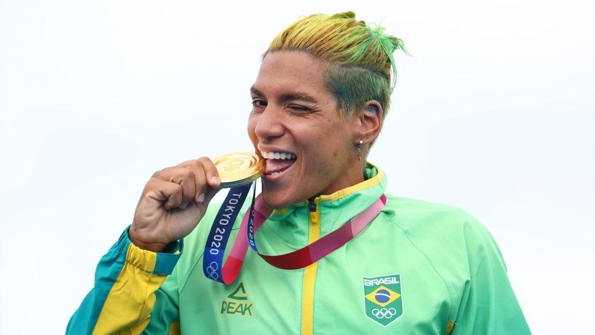 Marcela Cunhan, championne olympique du 10km nage libre