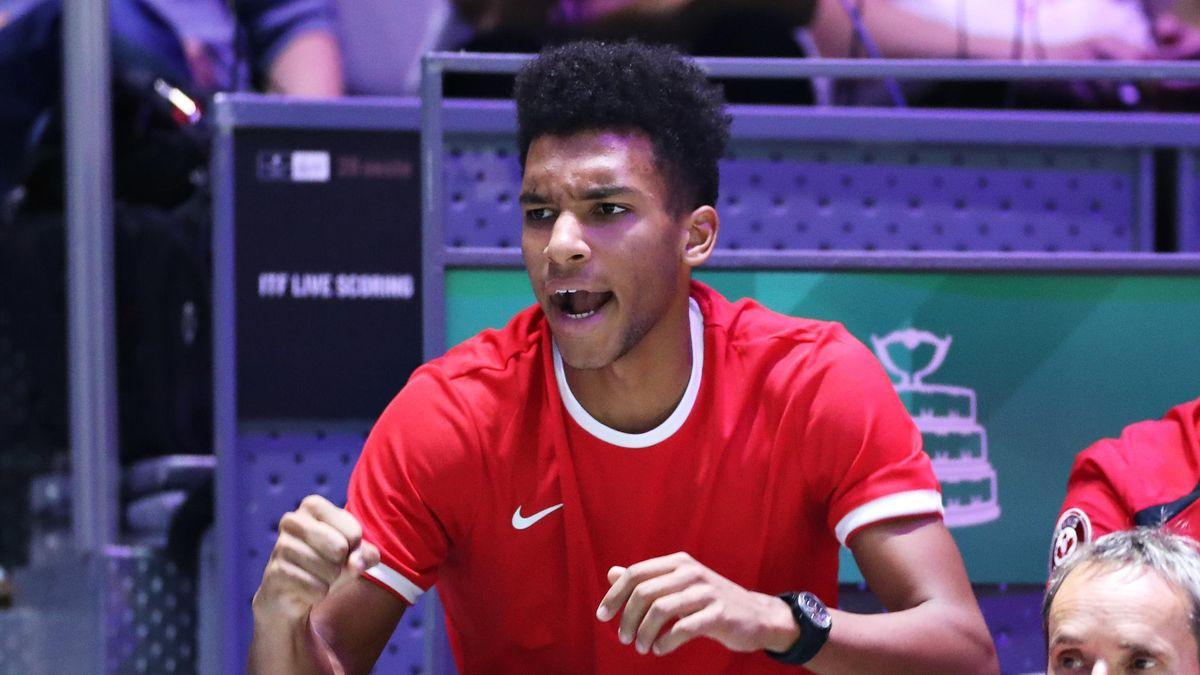 Felix Auger-Aliassime lors de la Coupe Davis 2019 à Madrid