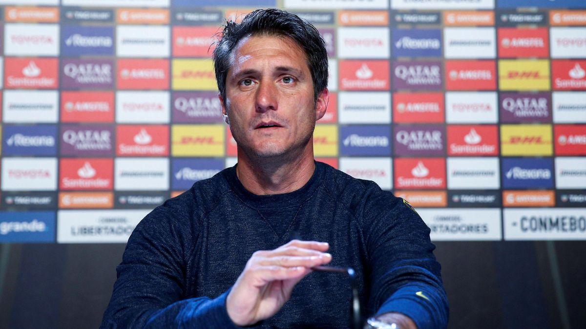 El entrenador de Boca Juniors, Guillermo Barros Schelotto