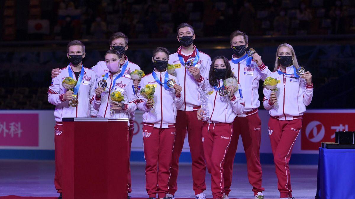 Российские фигуристы выиграли командный чемпионат мира