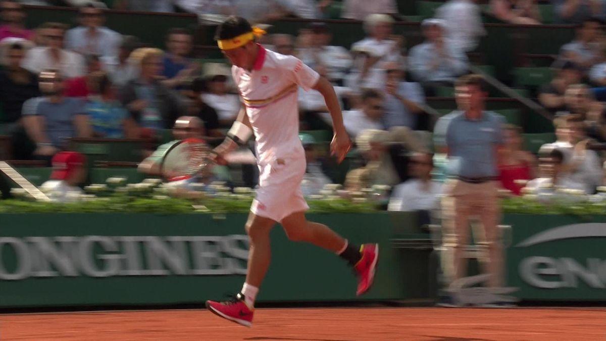 French Open - highlights - Nishikori vs Paire