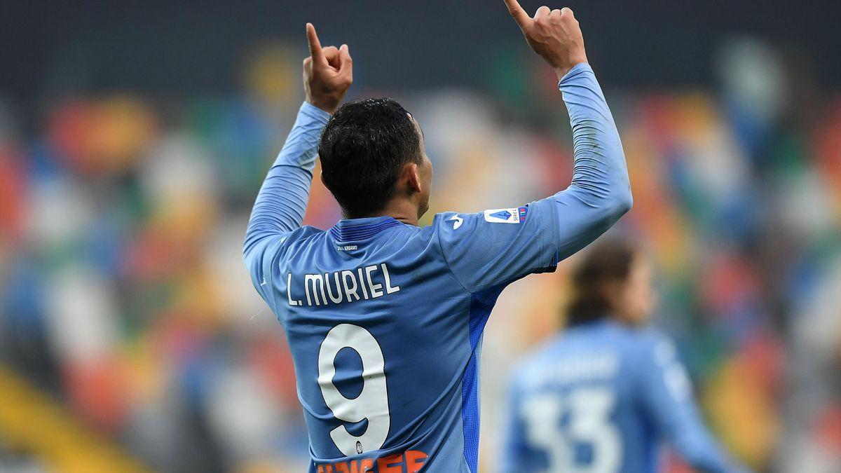 L'esultanza di Luis Muriel, Udinese-Atalanta