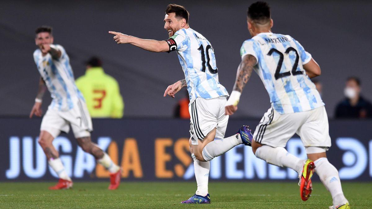 Lionel Messi a brillé dans le match Argentine - Uruguay
