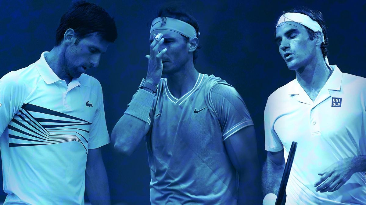 La déception de Novak Djokovic, Rafael Nadal et Roger Federer