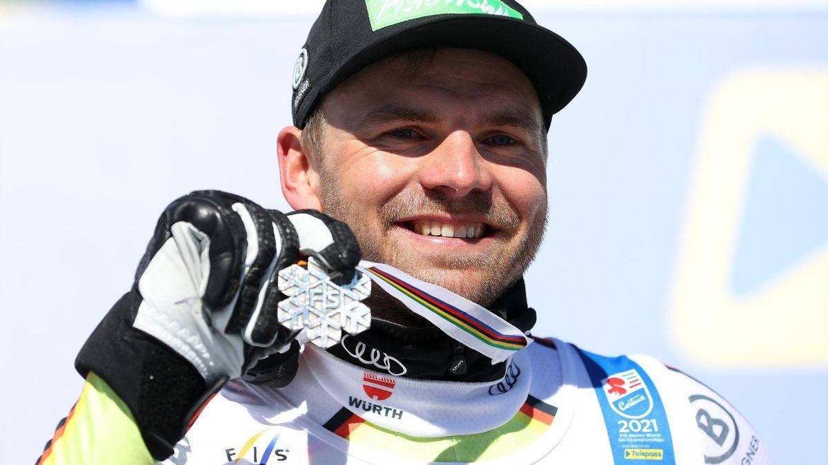 Andreas Sander mit WM-Silber in der Abfahrt in Cortina 2021