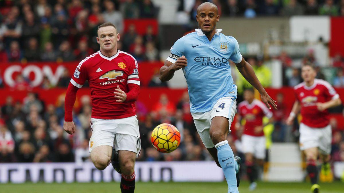 Wayne Rooney and Vincent Kompany - Manchester United v Manchester City, 25 October 2015