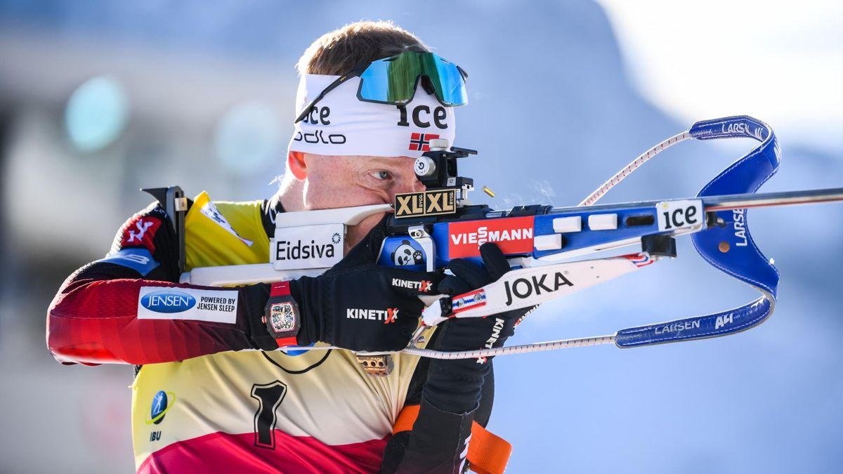 Johannes Boe utilise une carabine avec une crosse plus courte que celle de la saison passée - 20/12/2020 à Hochfilzen