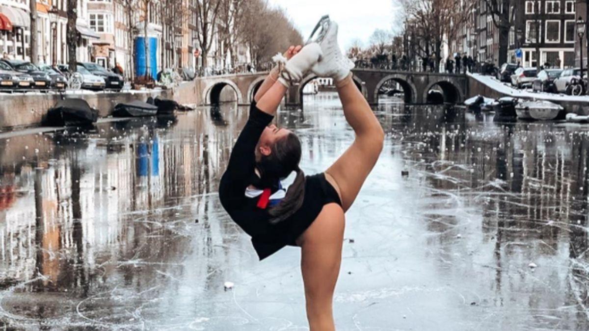 Eiskunstläuferin Linden van Bemmel