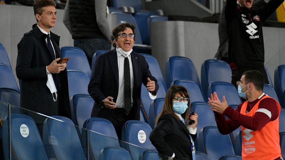 Il presidente del Torino Urbano Cairo - Lazio-Torino Serie A 2020-21