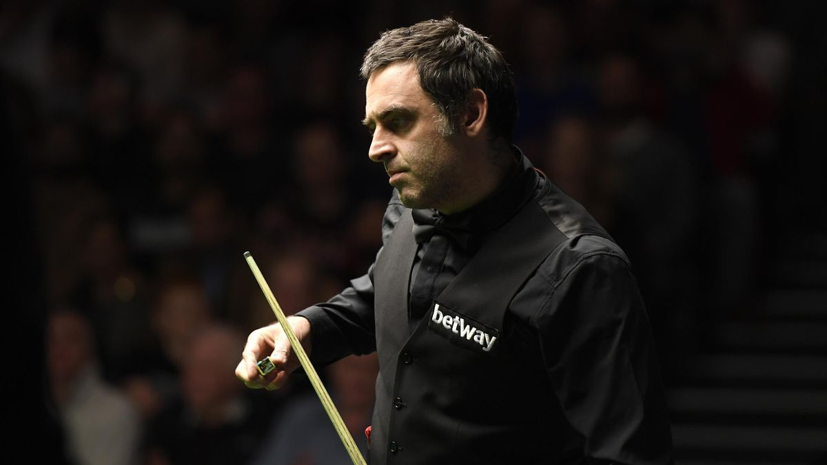 YORK, ENGLAND - NOVEMBER 28: Ronnie O'Sullivan reacts during his match against Ross Bulman on day 3 of the Betway UK Championship at The Barbican on November 28, 2019 in York, England. (Photo by George Wood/Getty Images)
