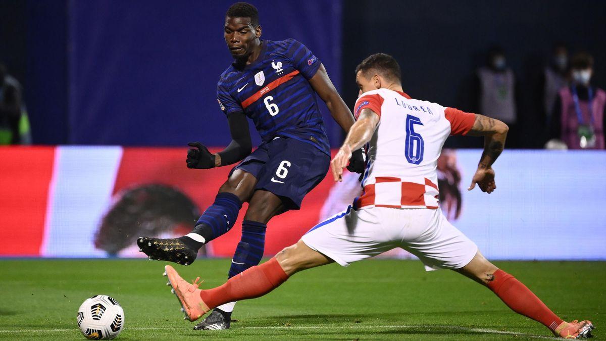 Paul Pogba lors de Croatie - France