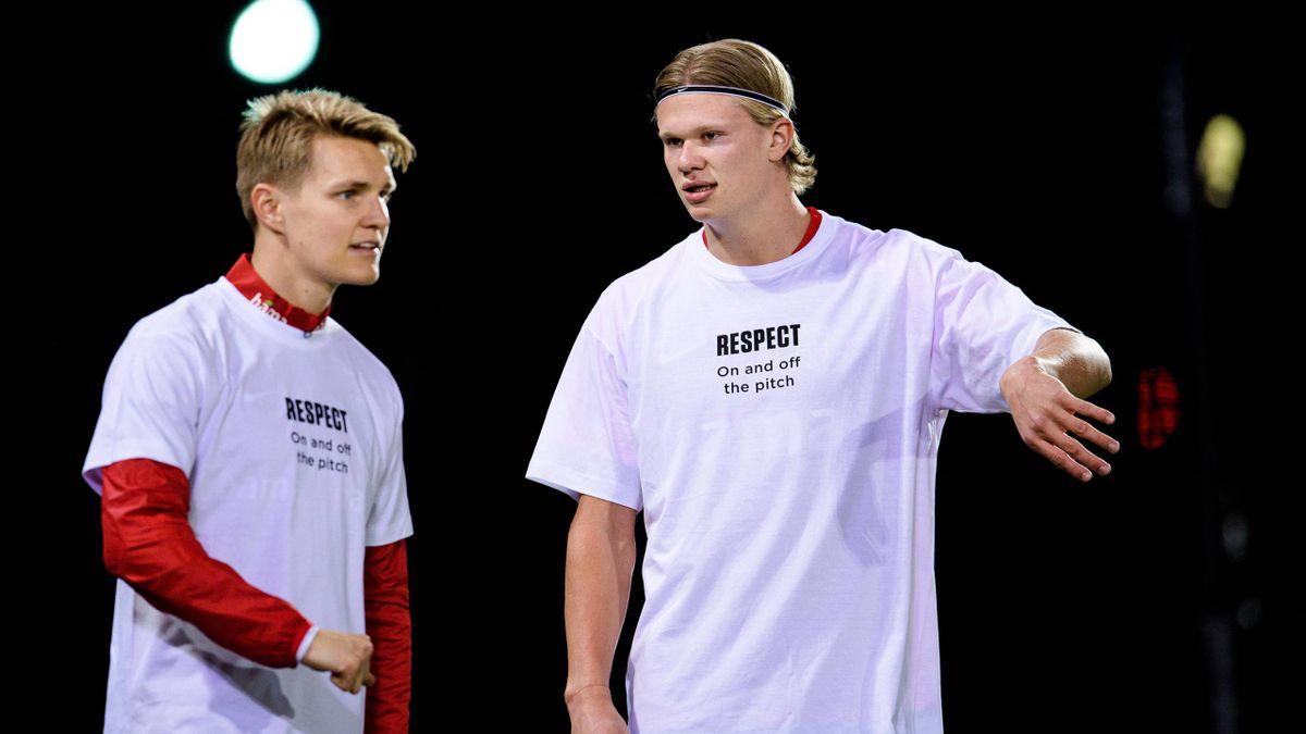 Martin Ödegaard (links) und Erling Haaland - Norwegen