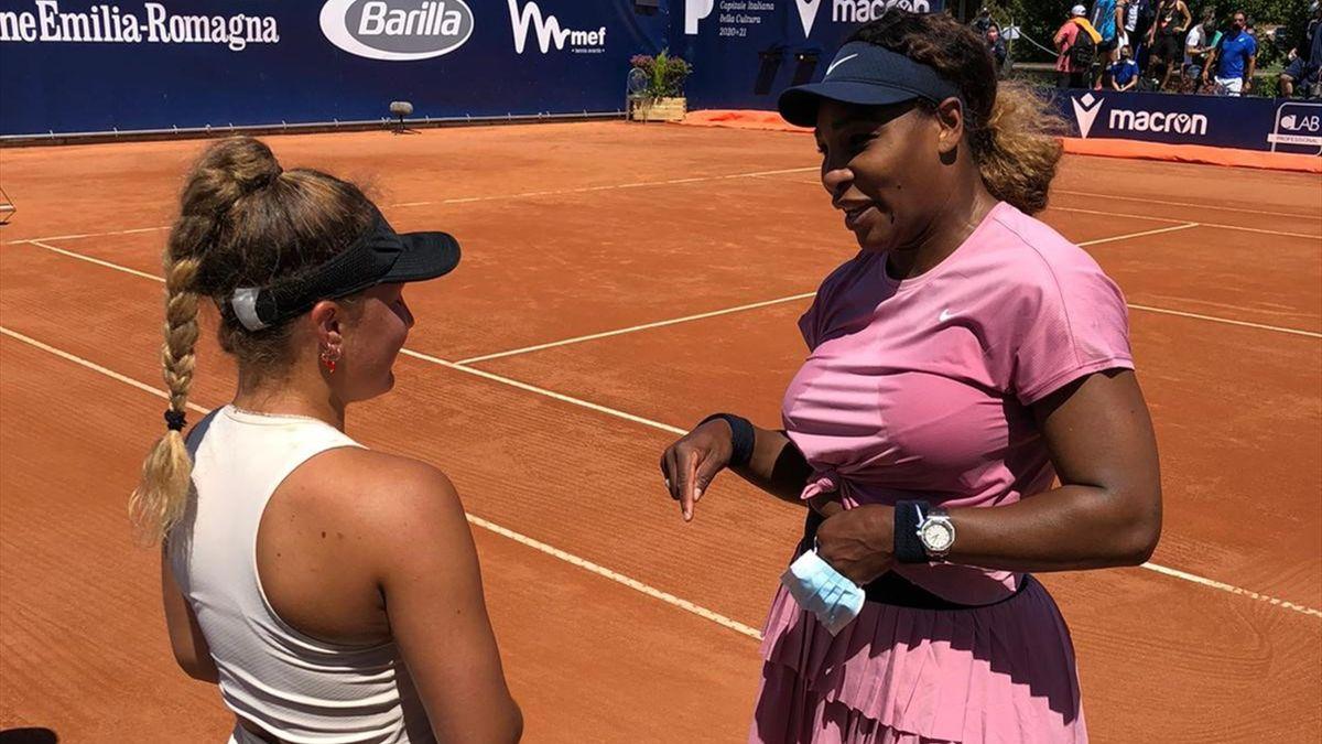 Lisa Pigato e Serena Williams a Parma - Profilo ufficiale WTA