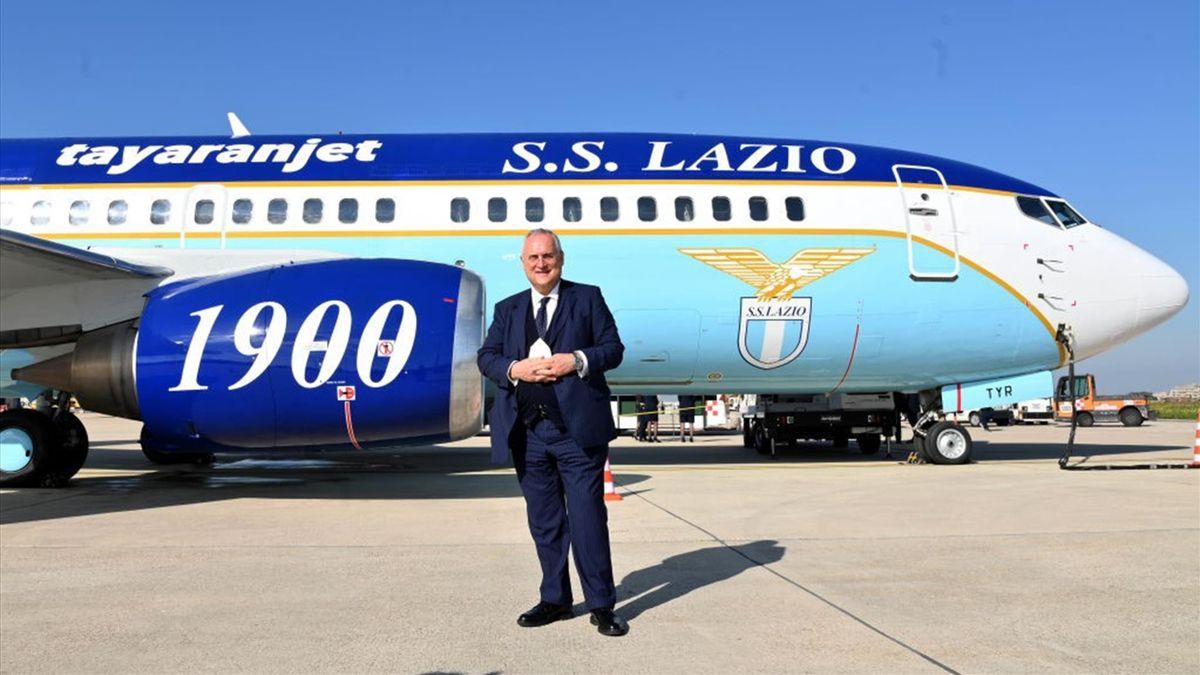 Il presidente della Lazio Claudio Lotito