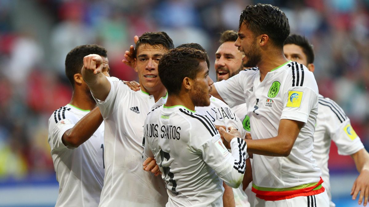 Mexico celebrate Hector Moreno's equaliser against Portugal