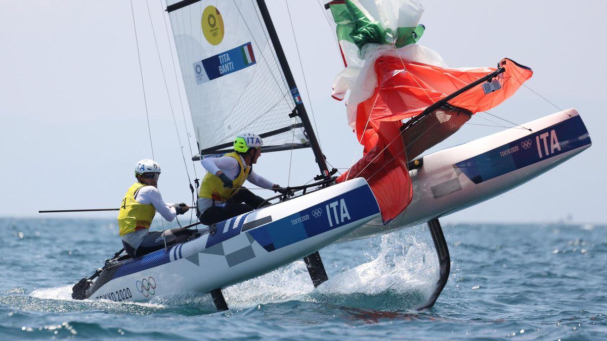 Ruggero Tita e Caterina Banti impegnati nelle regate dei Nacra 17 ai Giochi di Tokyo 2020