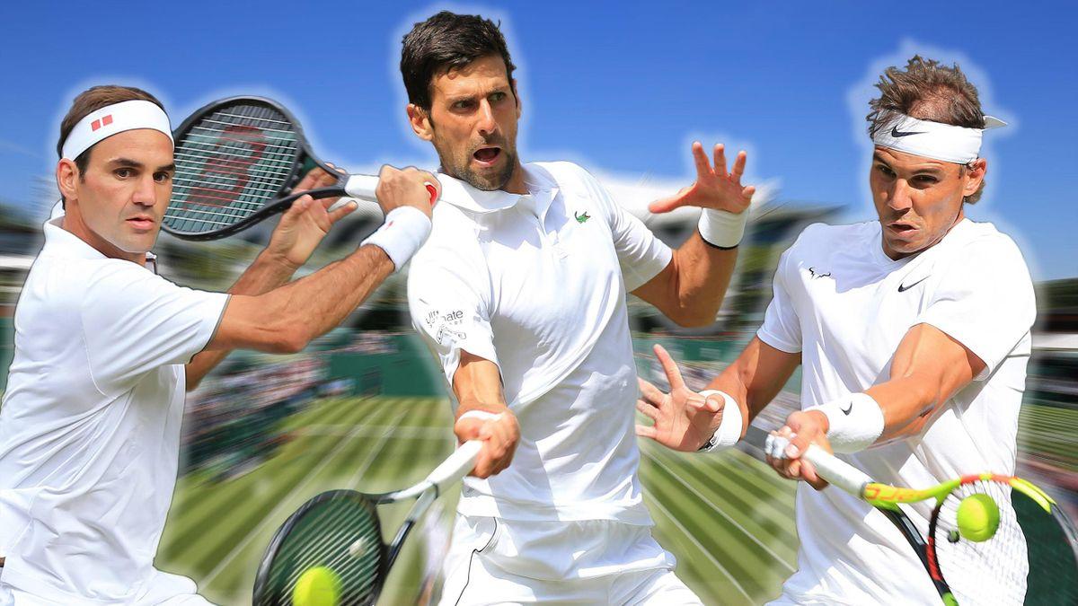 Federer, Djokovic e Nadal - Wimbledon