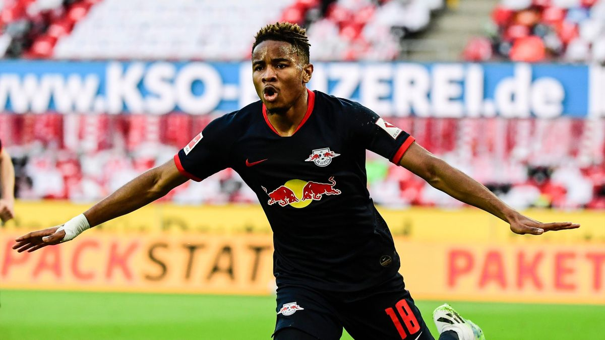 Christopher Nkunku buteur pour Leipzig à Cologne en Bundesliga le 1er juin 2020