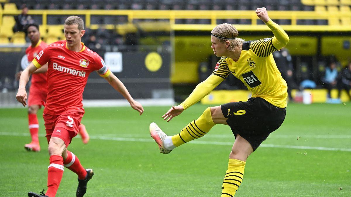 Haaland trifft für den BVB gegen Leverkusen