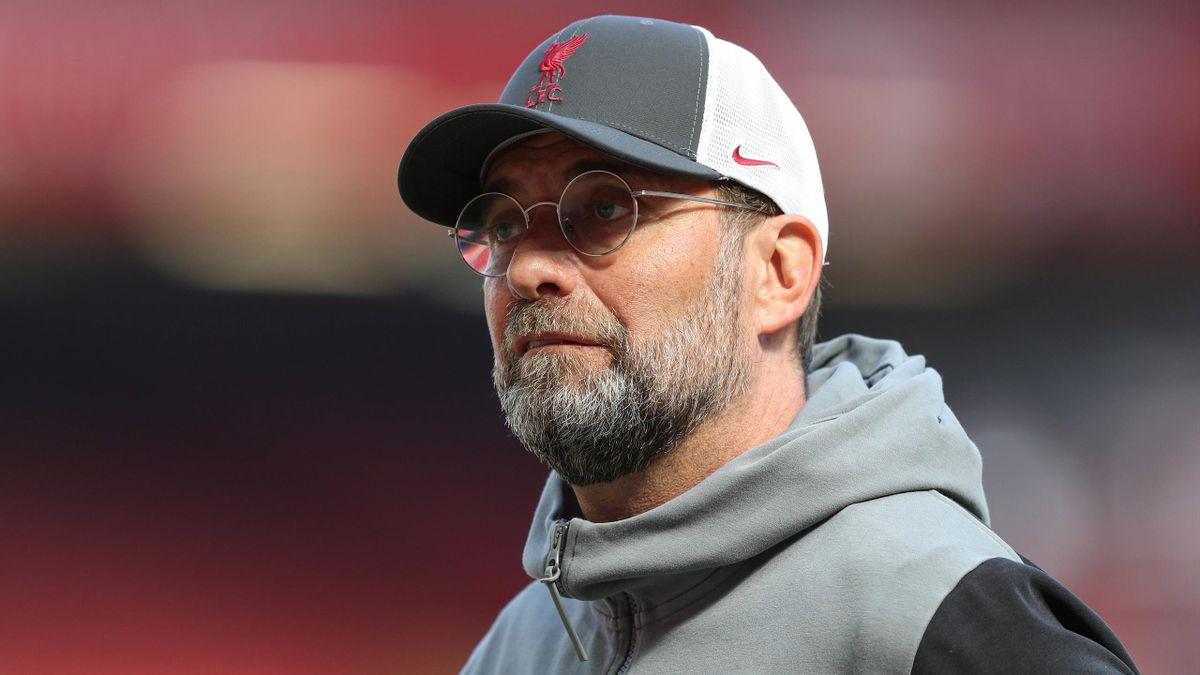 Jürgen Klopp après le match opposant Liverpool à Newcastle, le 24 avril 2021, en Premier League