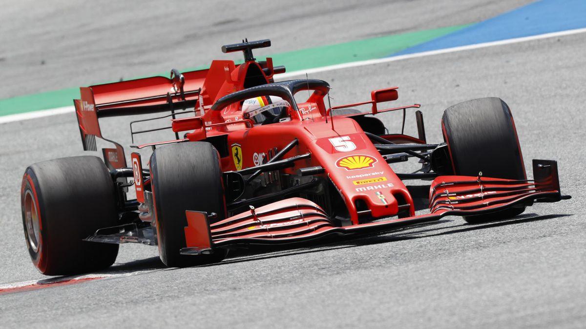 Sebastian Vettel (Ferrari) in Spielberg