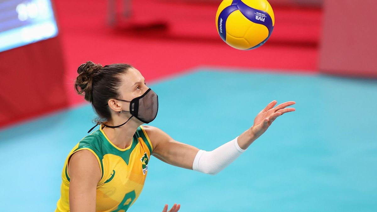Macris Fernanda Silva Carneiro spielte in Tokio mit Maske