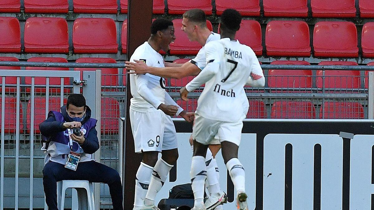 Jonathan David (Lille) buteur face à Rennes