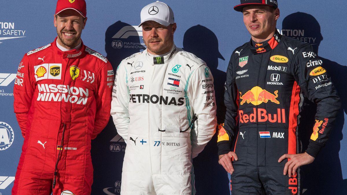 Sebastian Vettel (Ferrari), Valtteri Bottas (Mercedes), Max Verstappen (Red Bull) - GP of United States of America 2019