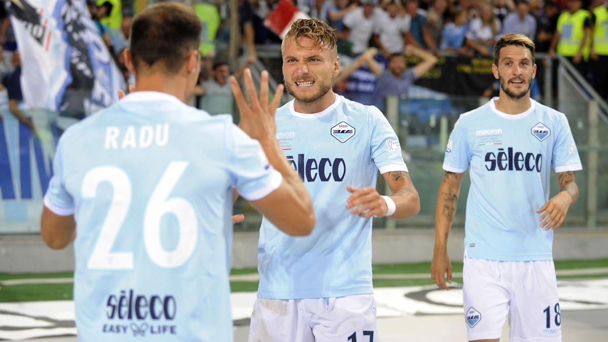 Les joueurs de la Lazio lors de la Supercoupe d'Italie.
