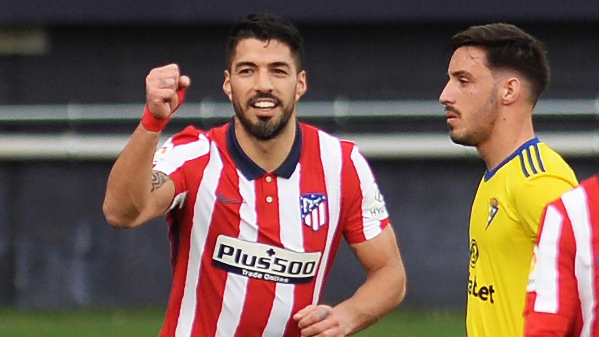Atléticos Luis Suárez traf doppelt gegen Cádiz