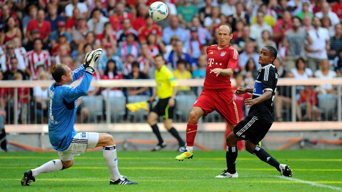 HSV-Keeper Jaroslva Drobny 2011 im Bundesliga-Spiel gegen den FC Bayern