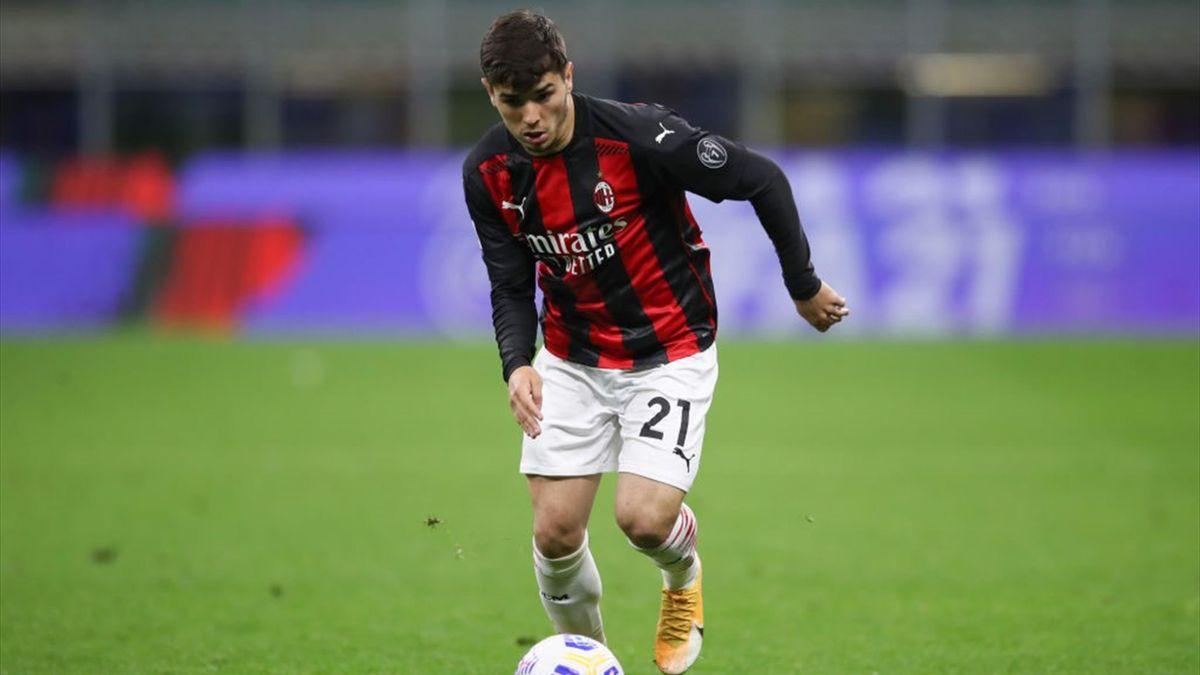 Brahim Diaz in azione - Milan-Benevento Serie A 2020-21