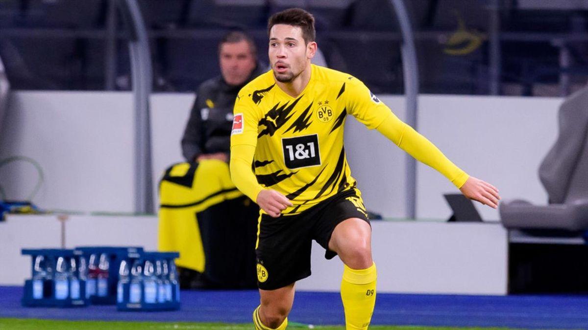 Raphael Guerreiro im Spiel Hertha BSC gegen Borussia Dortmund