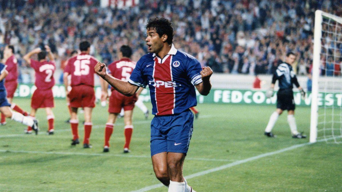 Rai, buteur mythique lors de PSG-Steaua Bucarest (5-0) en août 1997.
