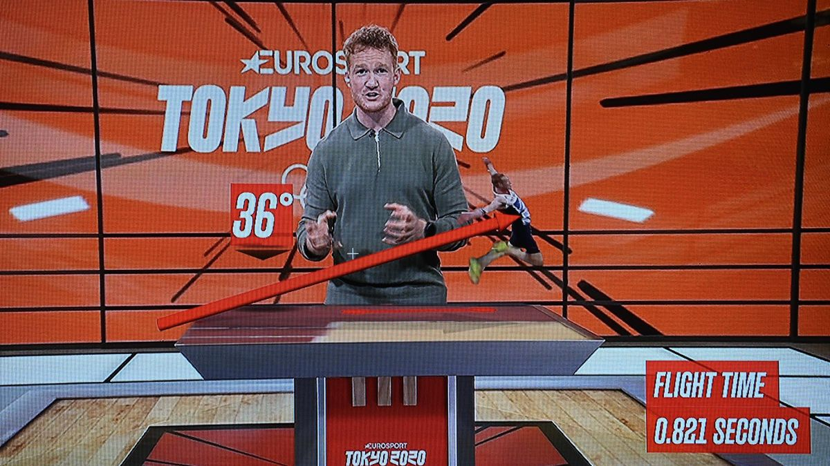"""Greg Rutherford dans """"Le Cube"""""""